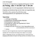 Einladung zur Jugendvollversammlung 2017